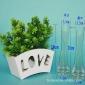 包邮客厅办公绿植仿真花插花花器水培富贵竹百合单只透明玻璃花瓶